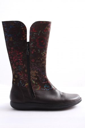 Loints of Holland Schaftstiefel lila Allover-Druck Casual-Look