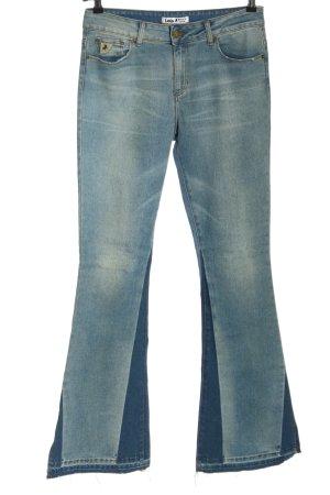 lois Jeansowe spodnie dzwony niebieski W stylu casual
