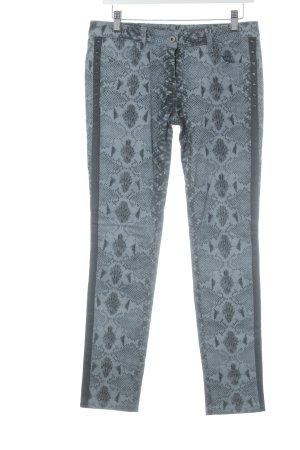 Loiza by Patrizia Pepe Skinny Jeans taupe-schwarz Animalmuster Nietenelemente