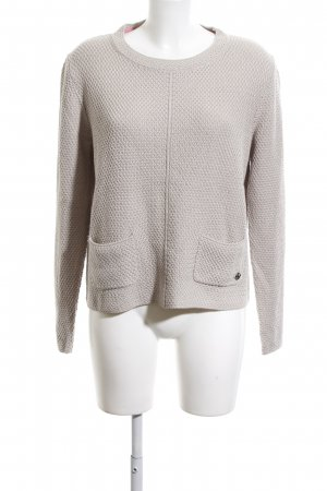 Lola by little West 8 Rundhalspullover creme Casual-Look