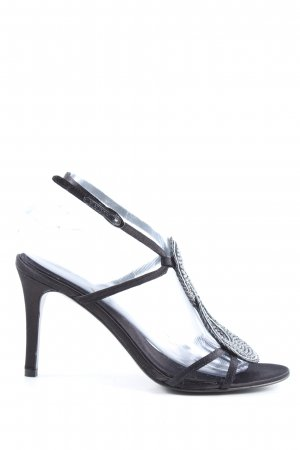 Lola cruz High Heel Sandaletten schwarz-silberfarben Casual-Look
