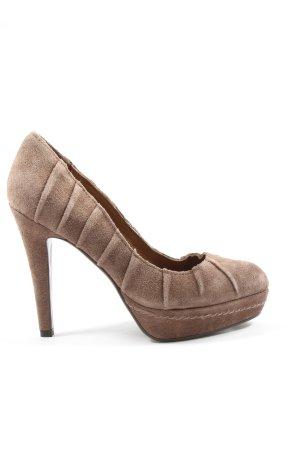 Lola cruz High Heels braun Streifenmuster Casual-Look