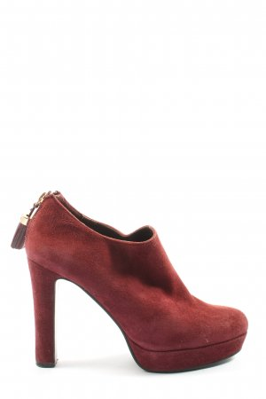 Lola cruz Reißverschluss-Stiefeletten rot Business-Look