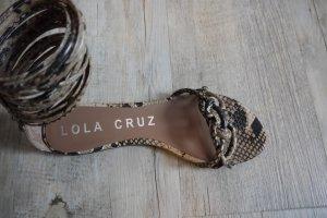Lola Cruz  Sandaletten Gladiator Sandalen Reptil kompl. aus Leder Gr. 39 NEU