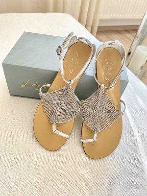 Lola cruz Sandalo Dianette argento-beige