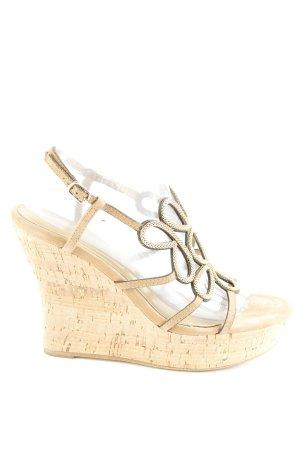 Lola cruz Wedges Sandaletten beige-goldfarben Elegant