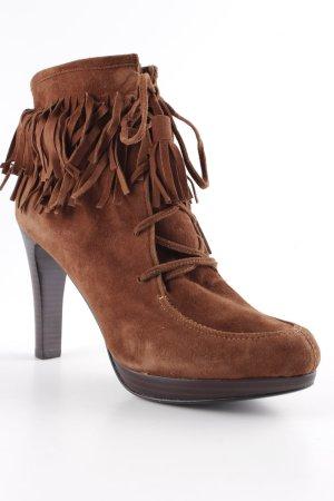 Lola cruz Stivaletto western marrone stile da moda di strada