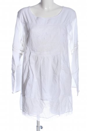 lola Langarm-Bluse weiß Casual-Look