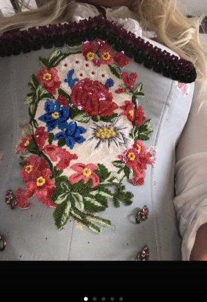 Lola Paltinger Couture Tracht Mieder Dirndl Optik hellblau