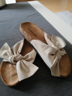 Comfortabele sandalen licht beige