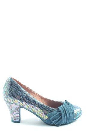 Lola ramona High Heels blau-silberfarben Elegant