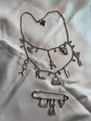 Lolita Lempicka Set Halskette + Brosche mit Swarovski Kristallen