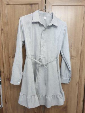 Vestido vaquero gris claro
