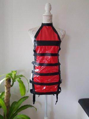 Conjunto de lencería negro-rojo