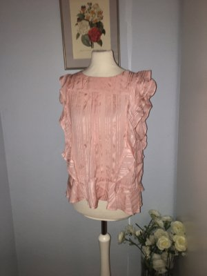 Lolly's Laundry Viscose rosa Top mit Rüschen