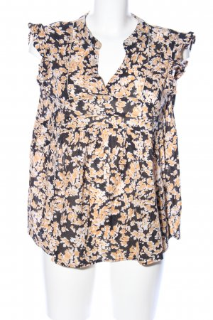 Lollys Laundry Kurzarm-Bluse abstraktes Muster Business-Look