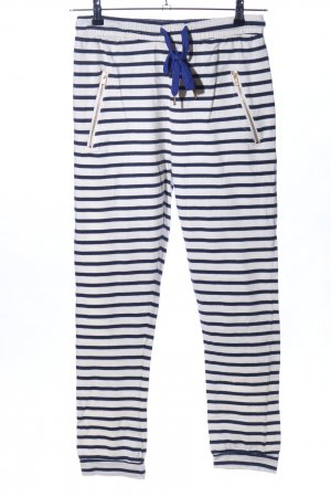 Lollys Laundry Sweat Pants white-black striped pattern casual look