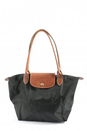 loncchamp Borsa di tela nero-marrone stile casual