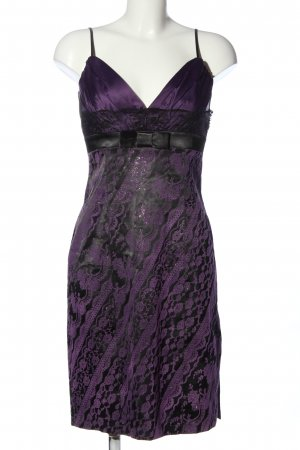 london girl Trägerkleid lila-schwarz Mustermix Elegant