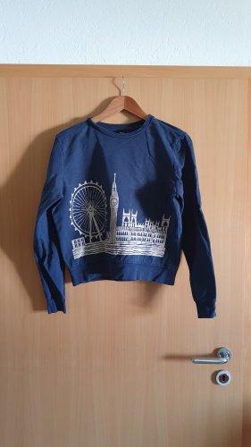 Asos Crewneck Sweater white-dark blue