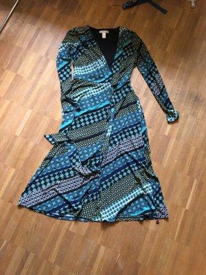 London Times Sukienka boho morski Tkanina z mieszanych włókien
