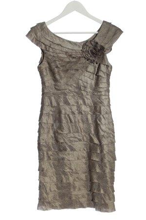 London Times Robe à volants bronze élégant