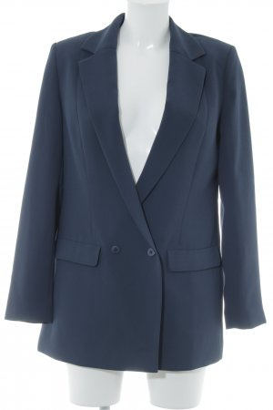 Long-Blazer dunkelblau Business-Look