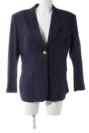 Long-Blazer dunkelblau Business-Look