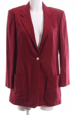 Long-Blazer dunkelrot Webmuster Casual-Look