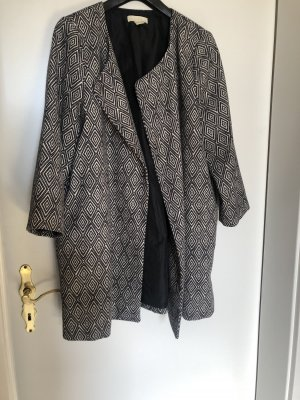 H&M Long Blazer black-natural white