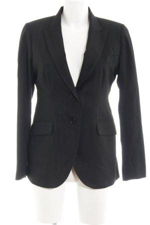 Long-Blazer schwarz-blau Elegant
