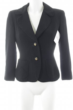 Long-Blazer schwarz Casual-Look