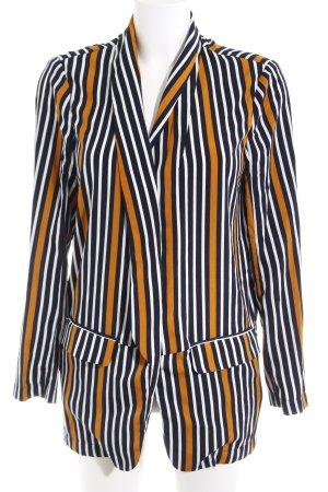 Long-Blazer Streifenmuster Street-Fashion-Look