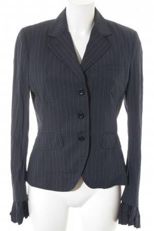 Paul Smith Long-Blazer wollweiß-dunkelblau Streifenmuster Business-Look