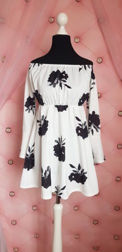 Long Blouse white-black