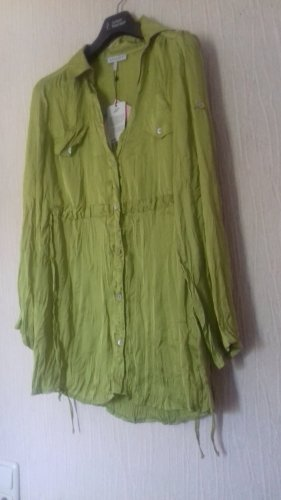 Apart Long Blouse lime yellow-green grey polyester