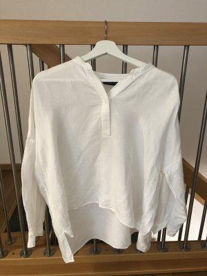 Long Bluse aus Leine von Zara