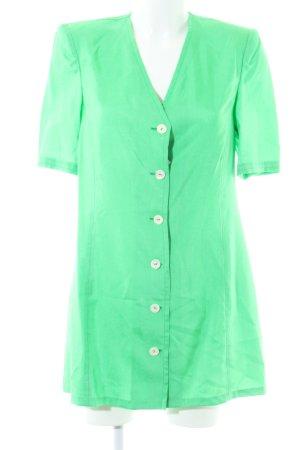 Long-Bluse grün Casual-Look
