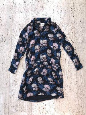 Long-Bluse mit Gummizug von Ganni