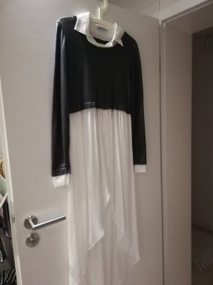 impressionen fashion Lange blouse wit-grijs