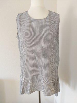 long Bluse Somday schwarz grau gestreift