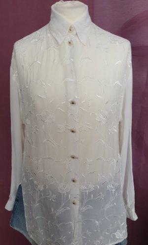 Barisal Transparante blouse wit Viscose