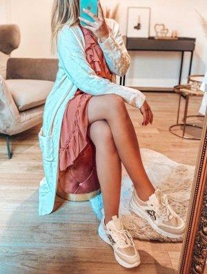 Boutique Comtesse Kurtka z dzianiny w kolorze białej wełny Poliester