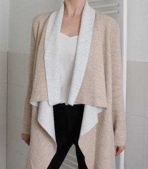 Zara Cardigan blanc cassé-beige