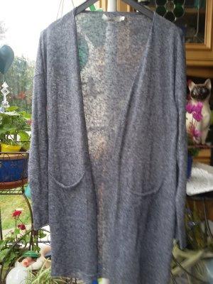 0039 Italy Kardigan szary-ciemnoniebieski
