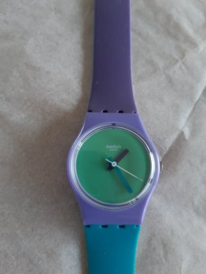 Long colorful watch by Swatch