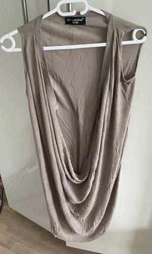 Laetitia Long Knitted Vest beige