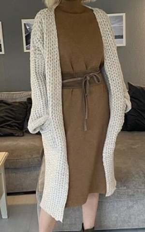 N. F New Fashion Abrigo de punto blanco puro-crema
