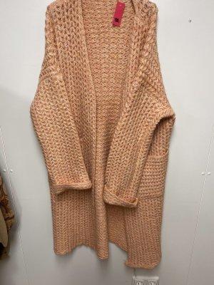 N. F New Fashion Abrigo de punto albaricoque-rosa