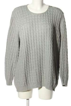 Long Island Cable Sweater light grey flecked casual look